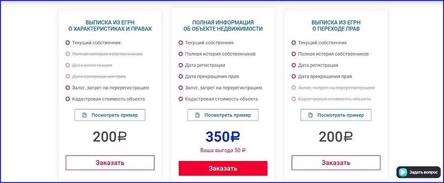 сроки и стоимость выписки ЕГРН из МФЦ